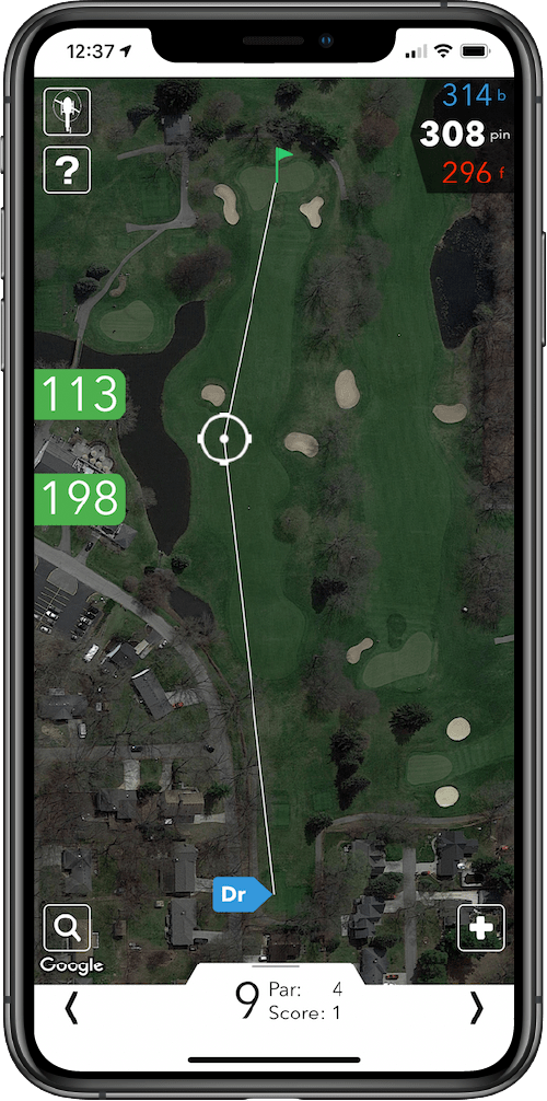 V1 Game GPS Screenshot