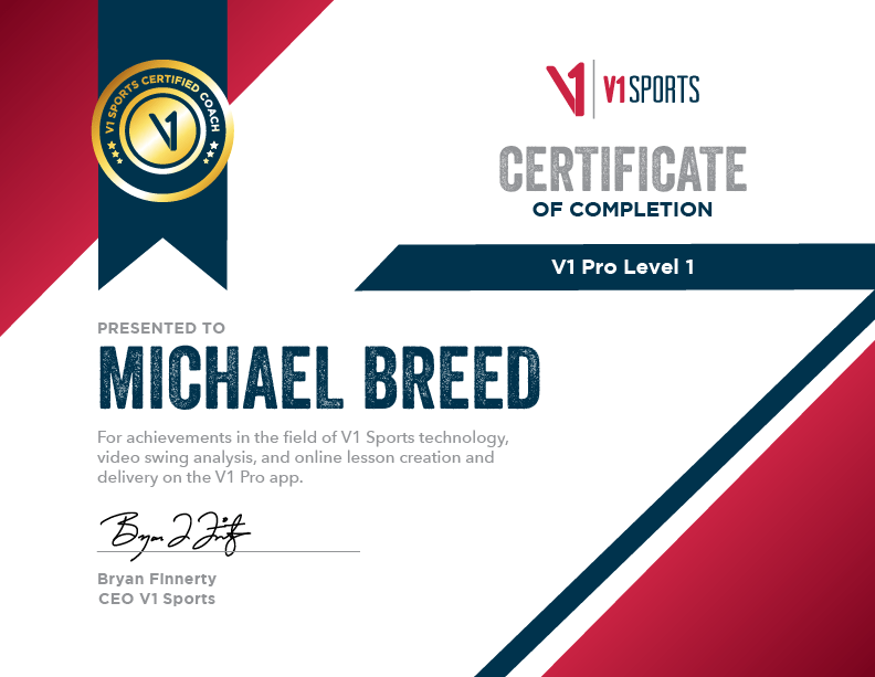 V1 Pro Level 1 Certification