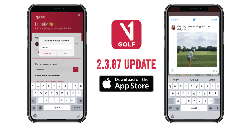 V1 Golf Premiers Social Sharing and Support Article Search