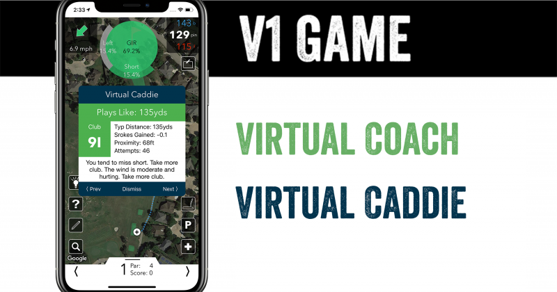 Product Update: V1 Game Virtual Coach, Caddie, and more