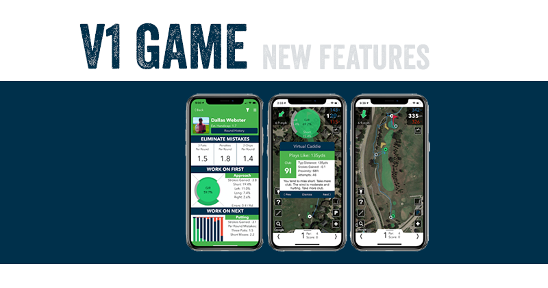 Game-Changing Virtual Coach, Caddie, and A.I. in V1 Game